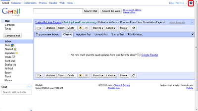 Google Mail Inbox