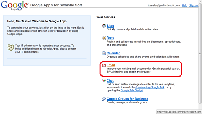 Google Apps App Selection
